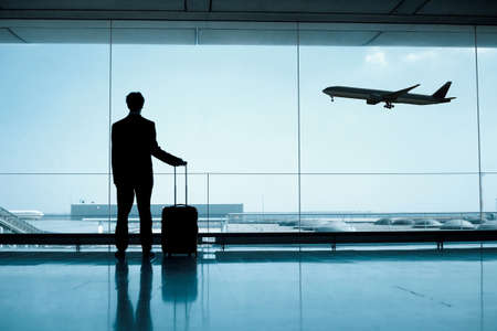 businessman at the airport Stock Photo