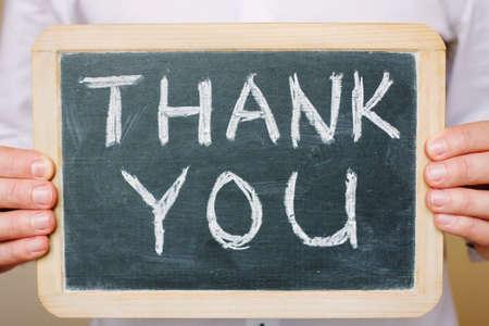 gratefulness: thank you - concept of gratitude Stock Photo