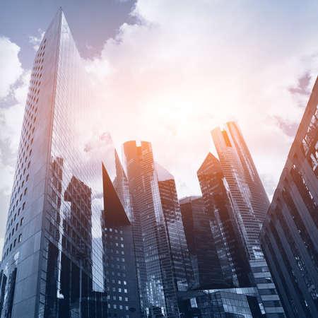 고층 빌딩과 사업 배경 스톡 콘텐츠
