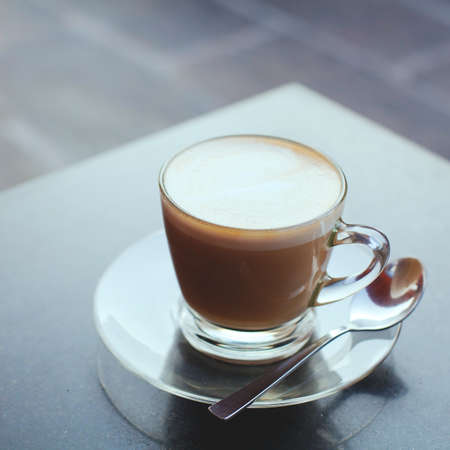 cup of coffee on the table Archivio Fotografico