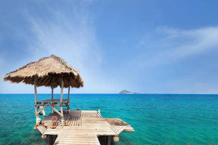 quiet: summer holidays, paradise travel destination
