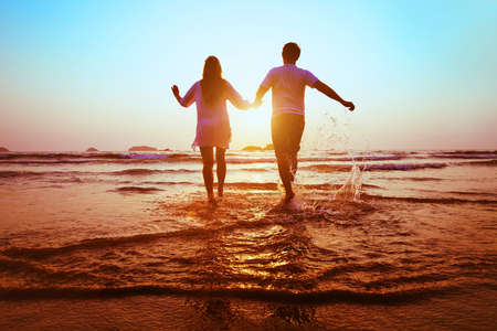 enjoy life: dream honeymoon Stock Photo