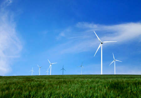 renewable energy resources: energy and nature Stock Photo