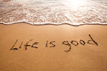 enjoy life: positive thinking concept