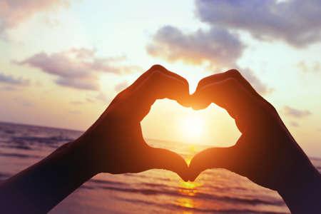 love on the beach Standard-Bild