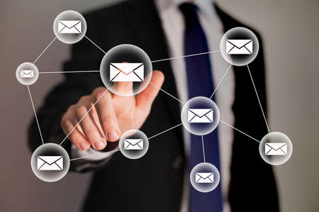marketing concept: email and business technology Stock Photo