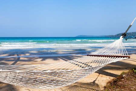 hammock on the beach Stock fotó