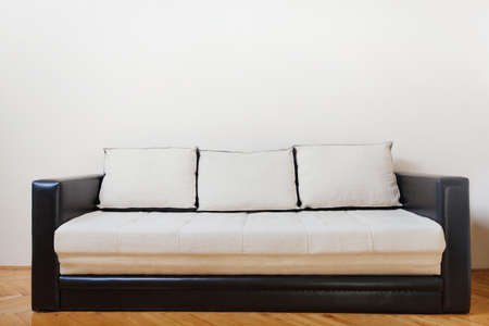 couch: couch in white room