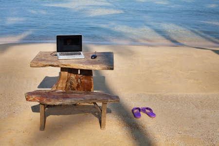 perfecte werkplek Stockfoto