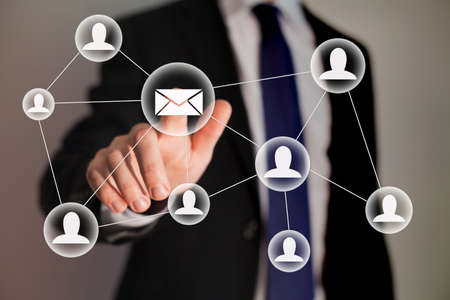 emails: email marketing Stock Photo
