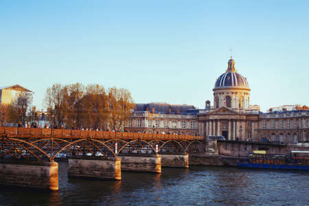 des: Bridge of arts, Pont des arts in Paris, France
