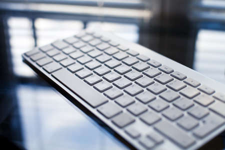 e pretty: beautiful modern keyboard on the glass table