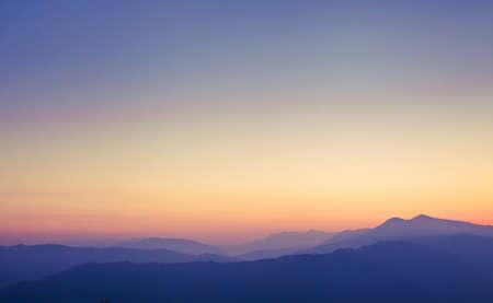 himalaya: beautiful panorama of Himalayan mountains at sunset, Pokhara, Nepal