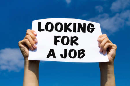 looking for job: looking for a job, unemployment concept
