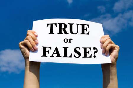 false: true or false