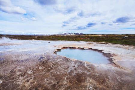 Iceland landscape, Hveravellir geothermal area Imagens