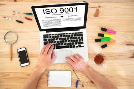 sistemas: ISO 9001 concepto estándar Foto de archivo