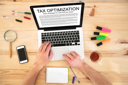 reduce: tax optimization concept Stock Photo