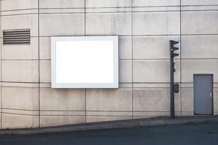 cartellone vuoto in città