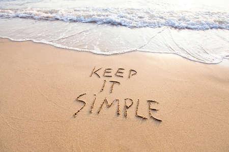 Hou het simpel Stockfoto