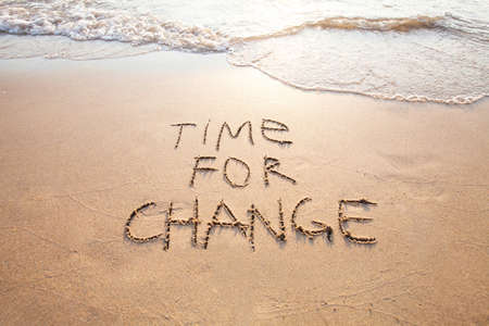 Time for change, concept of new, life changing and improvement Stock Photo - 77096161