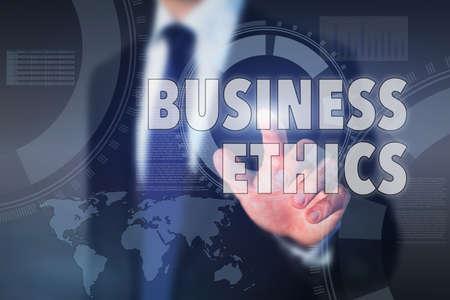 ビジネス倫理の概念 写真素材