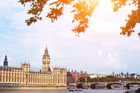 London beautiful view, Big Ben, architecture near Thames river, cityscape Stock Photo