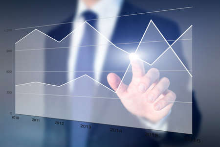 sales and expenses, business performance analytics Stock Photo
