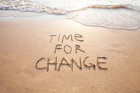 Zeit für Veränderung, Konzept für Neues, Lebensveränderung und Verbesserung