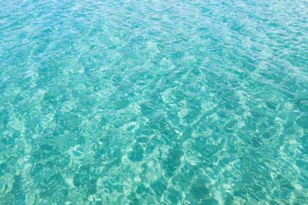 turquoise water background texture copyspace Stock Photo
