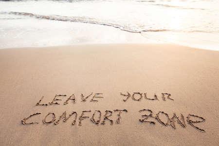 Comfortzone-concept Stockfoto