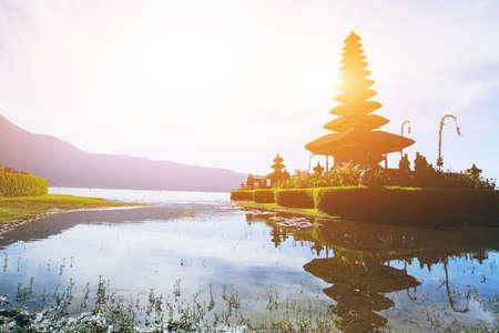 Temple Pura Ulun Danu Bratan on the lake in Bali, Indonesia