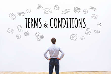terms and conditions, word concept background Stock Photo - 77493535