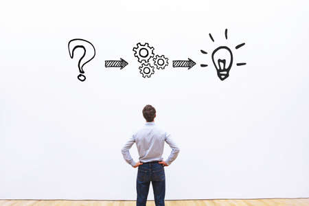 thinking or problem solving business concept