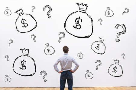 El crédito, la inversión o la recaudación de fondos concepto financiero, el dinero para iniciar el inicio del proyecto de negocios Foto de archivo