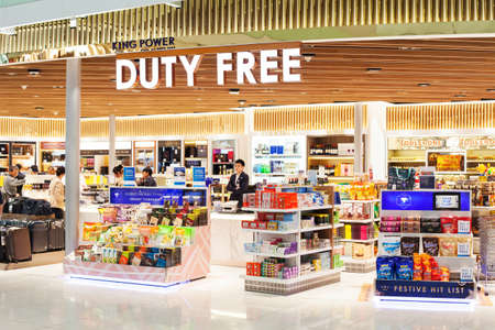 BANGKOK, THAILAND - NOVEMBER 28 2016: Duty free shop in Suvarnabhumi international airport