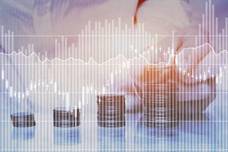 spaar- of passief inkomen financieel concept