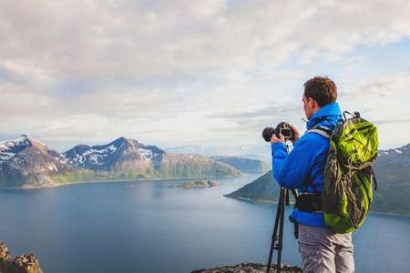 전문 풍경과 자연 사진 삼각대 야외, 노르웨이 여행