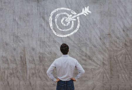 business target concept Banque d'images