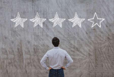 reputation management concept, feedback rating