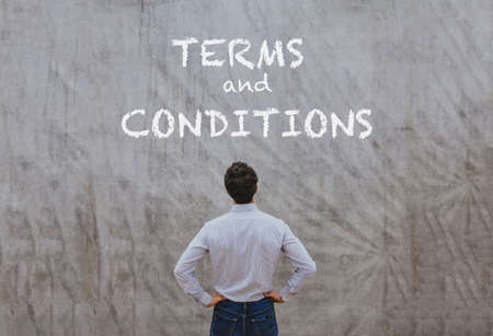 terms and conditions concept Stock Photo