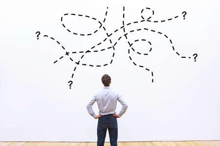 complexe moeilijke taak of vraag een bedrijf, probleemconcept