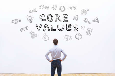core values concept Archivio Fotografico