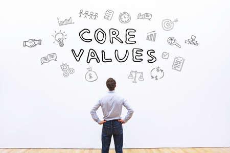 core values concept Banque d'images