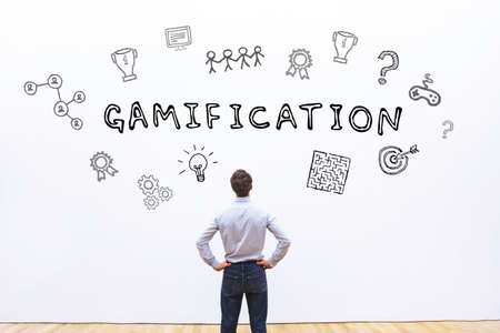 gamification concept 스톡 콘텐츠