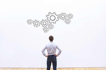 프로세스 개념, 비즈니스 메커니즘, 변환 스톡 콘텐츠
