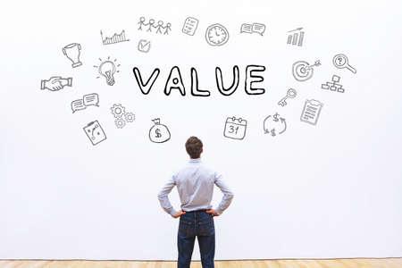 Concept d'entreprise de valeur Banque d'images - 82504599