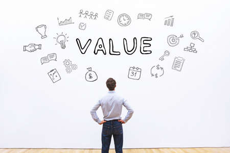 Wert Geschäftskonzept Standard-Bild - 82504599