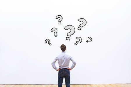 質問、ビジネス コンセプト 写真素材
