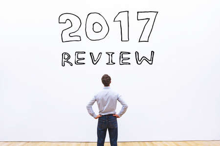 2017 year review concept